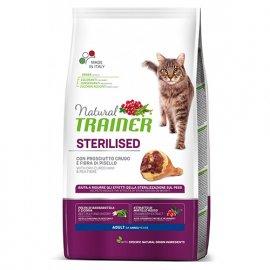 Trainer Natural ADULT STERILISED With Dry-Cured Ham корм для стерилизованных кошек с сушеным копченым окороком