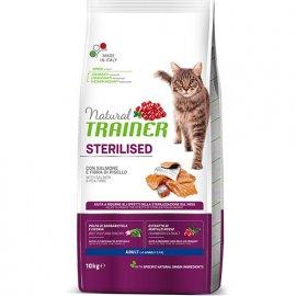 Trainer Natural ADULT STERILISED WITH SALMON - корм для стерилизованных кошек с лососем