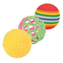 Trixie (Трикси) Набор мячиков - игрушка для кошек 3 шт (4132)