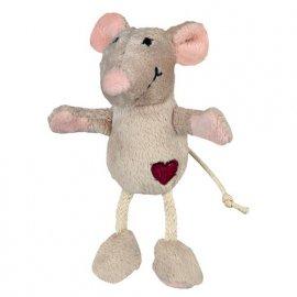 Trixie Мышка плюшевая с кошачьей мятой - игрушка для кошек (45579)