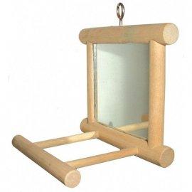 Trixie зеркало с деревянной рамкой и жёрдочкой (5861)