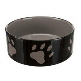Trixie (Трикси) МИСКА С ЛАПКАМИ КОРИЧНЕВАЯ для собак и кошек, керамика
