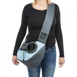 Trixie SLING FRONT CARRIER переноска - рюкзак для кошек и собак, ГОЛУБАЯ (28883)