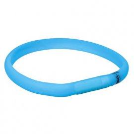 Trixie (Трикси) USB Flash Light Band Ошейник светящийся USB голубой (12681)