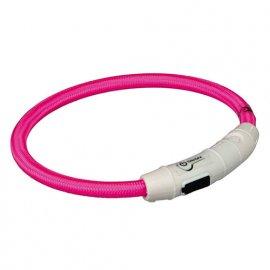 Trixie USB Flash Light Ring - Ошейник светящийся для собак Розовый