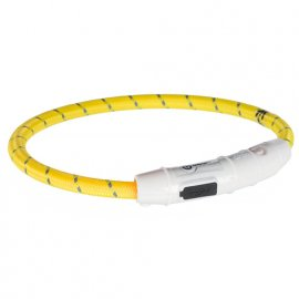 Trixie USB Flash Light Ring - Ошейник светящийся для собак желтый