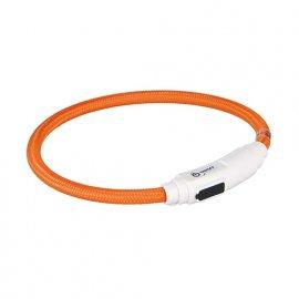 Trixie USB Flash Light Ring - Ошейник светящийся для собак Оранжевый