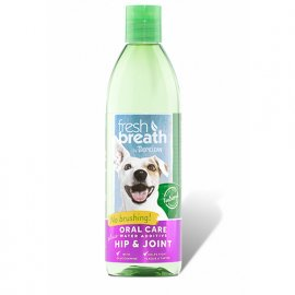 Tropiclean (Тропиклин) FRESH BREATH PLUS HIP&JOINT (СВЕЖЕЕ ДЫХАНИЕ ПЛЮС СВЯЗКИ И СУСТАВЫ) добавка в воду для собак и кошек, 475 мл