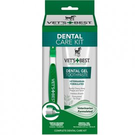 Vets Best (Ветс Бест) DENTAL CARE KIT (СВЕЖЕЕ ДЫХАНИЕ) набор для собак (гель + зубная щетка)