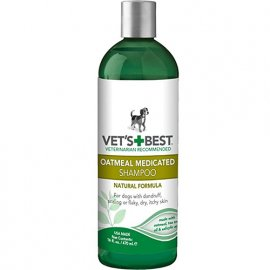 Vets Best (Ветс Бест) OATMEAL MEDICATED SHAMPOO (ОТ ПЕРХОТИ ДЛЯ СУХОЙ КОЖИ) терапевтический шампунь для собак 470 мл