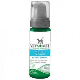 Vets Best (Ветс Бест) WATERLESS CAT BATH (СУХАЯ ЧИСТКА АЛОЕ ВЕРА И МАСЛО НИМ) шампунь-пена для кошек и котят
