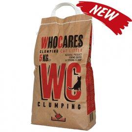 WhoCares Clumping Комкующийся наполнитель в кошачий туалет