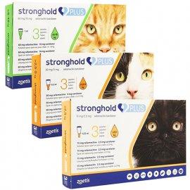 Zoetis Stronghold PLUS капли от внутренних и внешних паразитов для кошек, профилактика дирофиляриоза, 1 ПИПЕТКА