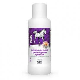 Veda ZooVip Шампунь-бальзам для лошадей релаксирующий с коллагеном и маслом мяты, 500 мл